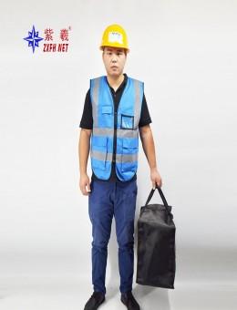 紫羲多功能反光背心施工地安全防护衣口袋交通路政环卫马甲