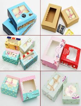 烘(hong)焙包裝(zhuang)盒2-8粒裝(zhuang)雪媚娘蛋黃酥盒63-80g月(yue)餅盒蛋糕外賣打包盒