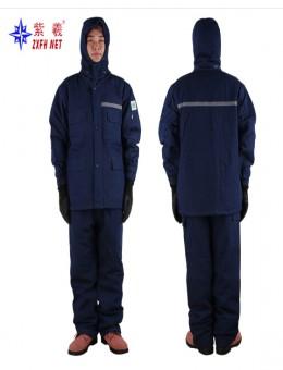 Зимняя защита Морозильная хлопчатобумажная одежда Зимняя куртка из холодостойкого хлопка