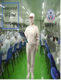 Новый комбинат пищевой фабрики с короткими рукавами Комбинат пищевой фабрики с длинными рукавами Комбинезон Дышащие водо- и маслоотталкивающие